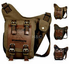 Men Canvas Military Camping Cross Body Sling Messenger Shoulder Hikking Bag New