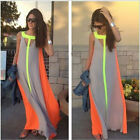 Fashion Women Summer Sleeveless Evening Party Beach Long Maxi Sundress Dress U.S