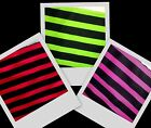 """5/8"""" Quality Green Red Pink Black Stripe Twill Fabric BTY"""