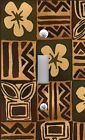 Light Switch Plate & Outlet Covers BROWN TIKI FLORAL PRINT
