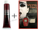 CLASSIC DELUXE VAMPIRE FANGS DRACULA TEETH WOUND HORROR FACE MAKE UP FAKE BLOOD