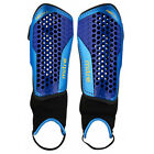Mitre Aircell Carbon Football Shinguard Shinpad Blue