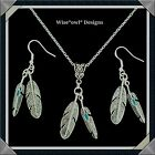 NATIVE AMERICAN DOUBLE FEATHER GIFT SET.STERLING SILVER CHAIN OPTION & GIFT BOX