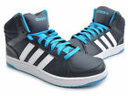 Adidas Neo VL Hoops mid men's black leather synthetic Basketball trainers 6-6.5
