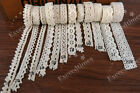 Vintage Polyester Cotton Crochet Edge Lace Trim Ribbon Wedding Sewing Bridal