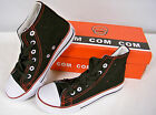 New in Box  Boys Canvas High Top Tennis Shoe ( Black )  Youth Size  12