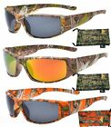 Hornz Polarized Camouflage Sunglasses Forest Full Frame Wide