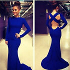 Sexy Women Backless Bodycon Evening Party Bridal Prom Ball Gown Long Maxi Dress
