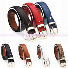 Mixed Colors Women Ladies Simple Leather Studded Buckle Strap Belt Waistband
