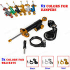 Steering Damper with Mouting Kit For Suzuki GSX R600/750 2006 07 08 09 10 CNC