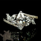 1.0 Carat Look Marquise Created Diamond 9ct White Gold Engagement Ring