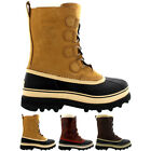 Mens Sorel Caribou Winter Walking Hiking Fleece Suede Mid Calf Boots All Sizes