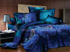 Blue Roses 3pc Duvet Cover Set: Duvet Cover & Pillowcases (Queen/King)