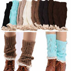 NEW Womens Crochet Knitted Lace Trim Boot Cuffs Toppers Leg Warmers Winter Socks