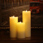 3D Free-Flowing Flameless Candle With Timer Battery Power Real Wax Moon Candle