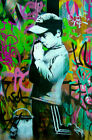 Banksy  Boy Praying print canvas  8x12 & 12x17 street art graffiti
