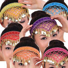 Belly Dance Costume Hairpin Head Buckle Headband Sequins  Gold Coins 10Colour