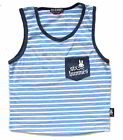 Six Bunnies Boys Rockabilly Stripe Singlet Skull Kustom Muscle Tank Tee 2 4 6 8