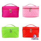 Korean Lingge clutch bag Quartet cosmetic makeup bag