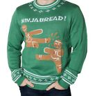 Men's Ninjabread Ugly Funny Christmas Sweater by CrazyHolidaze