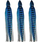 "5.5"" to 8.5"" Octopus Squid Replacement Skirt - Blue & Silver Sparkle & Stripes"