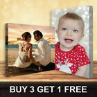 """Your Personalised Photo on Canvas Print 12"""" x 8"""" Framed A4 DEEP FRAME"""