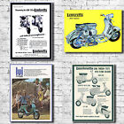 Vespa Scooter Canvas Art Print - Mod Lambretta Vintage Cool Retro Decor Soul
