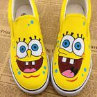 Spongebob Style Boy Girl's Hand-painted Canvas Shoes Women Men Sneaker 10 Styles
