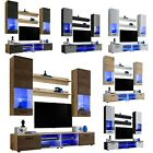 Furniture Living Room Set Cupboard TV Unit Modern Cabinet Wall Shelf Stand Gloss