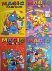 A5 Blue Green Yellow Magic Painting Colouring Book (Add Water) 4 to Collect