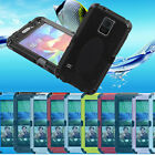 Aluminum Metal Water/Snowproof Gorilla Glass Case Cover For HTC One M8 US LW