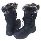 Women's Winter Snow Boots Black Fur Zipper Water Repellent Insulated Shoes Sizes