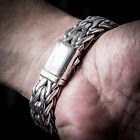 Rope Weave Bracelet 16mm - Outstanding Quality - Solid 925 Sterling Silver