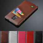100% Real Genuine Card Leather Luxury Hard back Case Cover For Various Phones