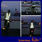 Adjustable Reflective Traffic Safety Vest Top for Riders Cyclists Runners Worker