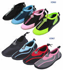 New Womens Slip on Water Shoes/Aqua Socks/Pool  Beach Yoga Dance Exercise,Colors