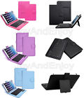 "Detachable Wireless Bluetooth Keyboard PU Leather Stand Case For 9""-10.1"" Tablet"