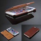 100% Real Genuine Flip Luxury Leather Case Cover Skin For iPhone 6 6S 6S plus