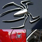 Decal Sticker 3D Spider Car Truck Motor Metal New Novelty Shape Emblem Chrome