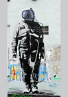 Banksy Astronaut Shopping print canvas  8x12 & 12x17 street art graffiti