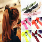 Girl Satin Ribbon Bow Hair Band Rope Scrunchie Ponytail Holder Noble Cute Gift