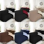 Full Duvet Cover With Pillow Case Plain Dyed Reversible Quilt Cover Bedding Set