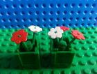 LEGO Green Container Plant Boxes Flowers x2 Trees Creator City Friends Belville