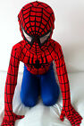 Deluxe Superhero Spiderman Stretch Suit Childrens Kids Fancy Dress Costume Red