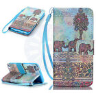 for iPod Touch 5th / 6th Gen Magnetic Flip With Strap Wallet Painting Case Cover