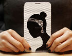 New  Bling Girl's Diamond Earring Flip Leather Wallet Case Cover For Phones SH