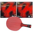 HRT RED Crystal with 2x 999 999T Rubbers for a table tennis racket