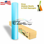 Premium MATTE FLAT LIGHT BLUE Vinyl Car Wrap Sticker Decal Sheet Film Bubble