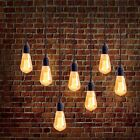 Homestia E27 Edison Bulb Plug-in Lantern Hanging Cord Light Socket Filament Bulb