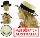 Uni Sex Ladies Girls Men Boater Sailing Boating Bowling Outdoor Fashion Sun Hat